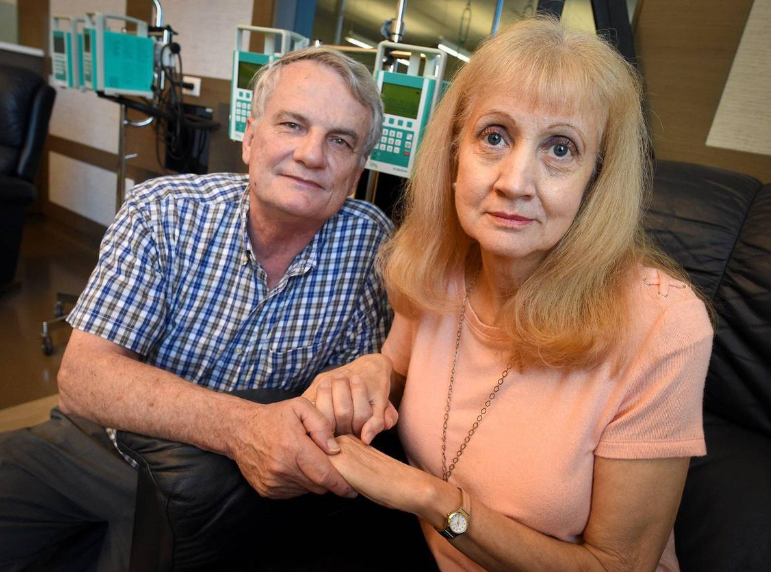 Norma Smith and her husband Rod.